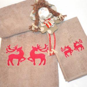 coppia asciugamani renne