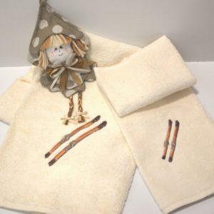 coppia asciugamani spugna scii
