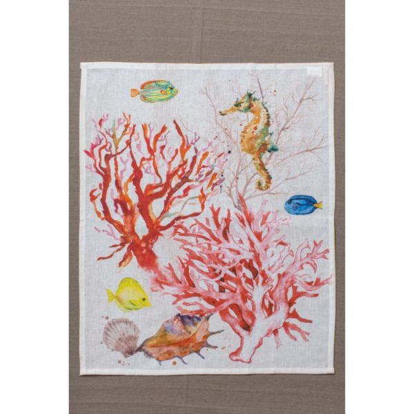 """Canovaccio linea """"Palau"""" corallo rosso"""